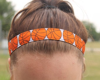 Basketball Sports Headbands for Girls - Athletic Headband Adult Basketball Gifts - Girls Basketball Headband - Choice of Patterns