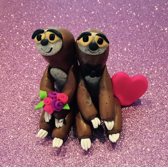 sloth wedding cake topper sloth cake topper personalized wedding decoration 20197