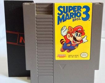 Super Mario Brothers 3 - Nintendo w/Sleeve. Vintage Game