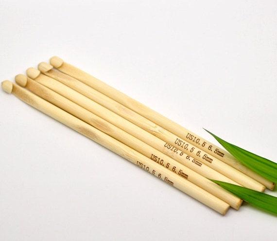 Bamboo Crochet Hooks 6.5mm/US 10.5 Knitting Needles 5 Pieces Bulk Wholesale Kit