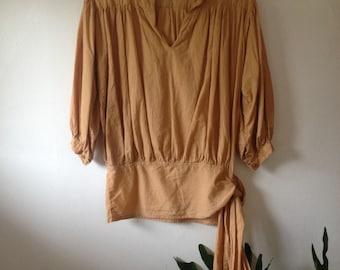 Billowy indian cotton tunic blouse. Size S-M