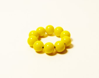D-00944 - 10 Glass beads 6mm Yellow