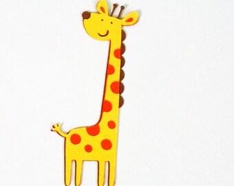 12 Giraffe die cuts - 4 inches tall