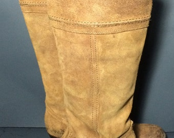 Frye 77222 Jane 14L Brown Leather Riding Boots Women's Size 7