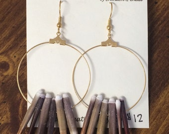Sea Urchin Spine Hoop Earrings