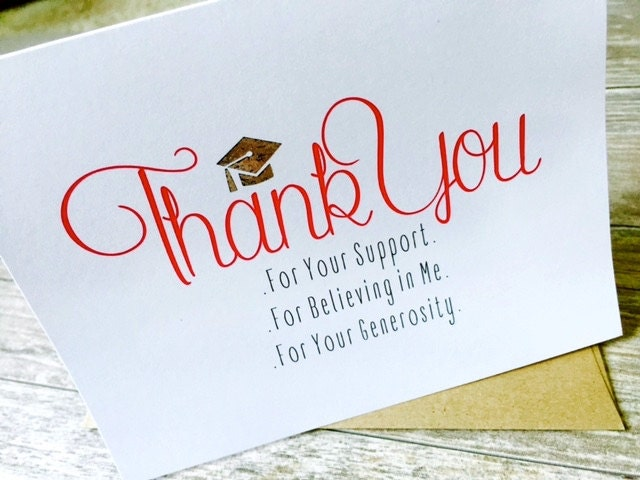 Graduation Thank You Cards: Graduation Thank You Cards / Graduation Note Cards: Set Of 10