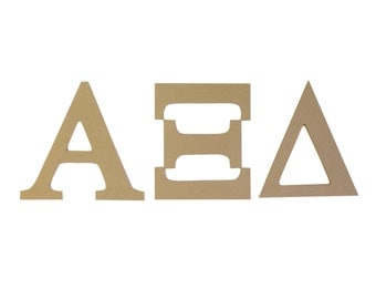 alpha xi delta 75 unfinished wood letter set