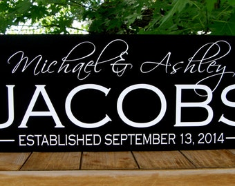 Family established sign, wood sign with established date,Custom Family gift-Family name sign,Personalized family gift,Name sign,Family sign