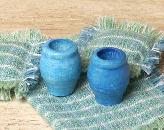 Maritime Miniature Wooden Vases for Your Dollhouse