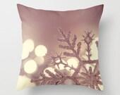 Snowflake Throw Pillow Design, Christmas gift, Christmas scene, Snow, Pink, Pillow Photography, Home Decor, House warming gift