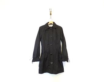 90s Vintage Betsey Johnson Black Rain Wear / Betsey Johnson Jacket