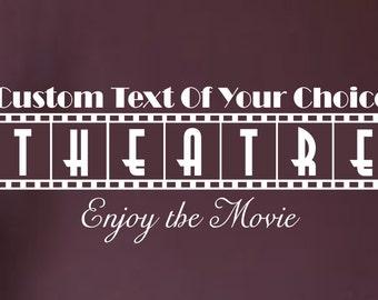 Custom Text Theater Movie Vinyl Wall Art Sticker Decal Home Decor Sharp