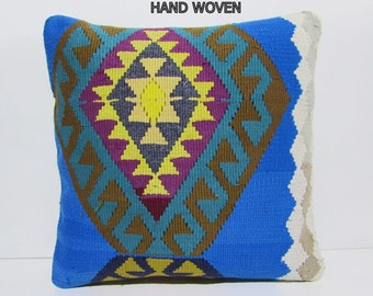 boho pillo cover 24x24 pillow cover orange pillow cover 60x60 floral throw pillow bohemian throw pillow blue pillow kilim pillow sham A530