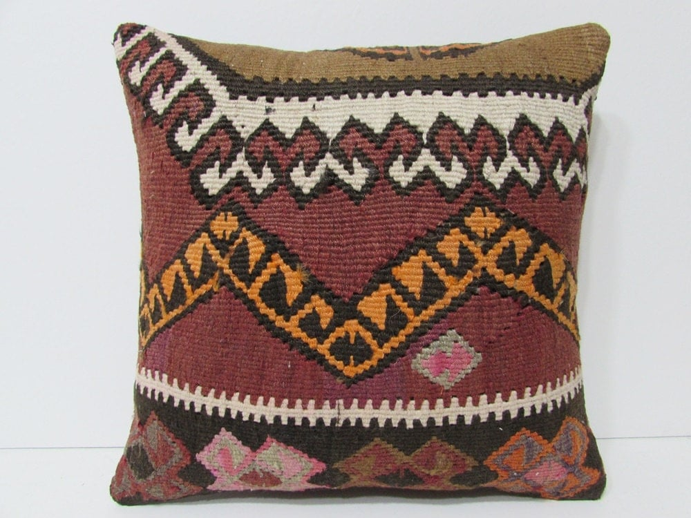 Bed Decorative Pillow 18x18 Hippie Pillow By