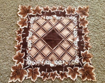 Beautiful Fall Hankerchief with Leaves