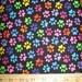 Paw Prints & Dog Bones Cotton Fabric! [Choose Your Cut Size]