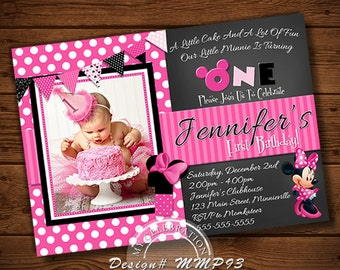 MINNIE MOUSE INVITATION, Minnie Mouse
