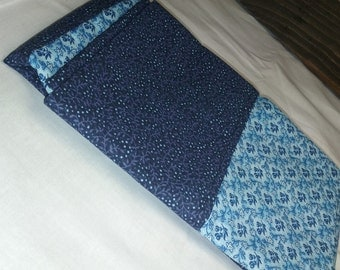 dark and light blue pillow case
