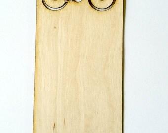 Bike Bookmark Birch wood Bicycle laser cut