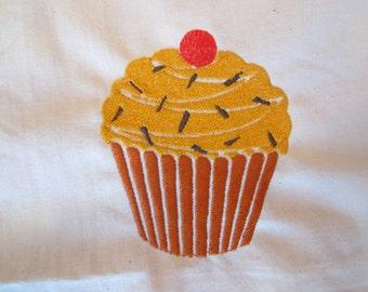 Coffee Cupcake embroidery design