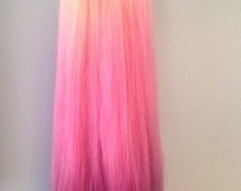 In Stock Hawaiian Dream Synthetic Ombré  Doll Hair for OOAK Custom Monster High My Little Pony Blythe