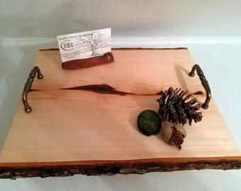 Rustic Log Slab Cutting Board/ Serving Tray