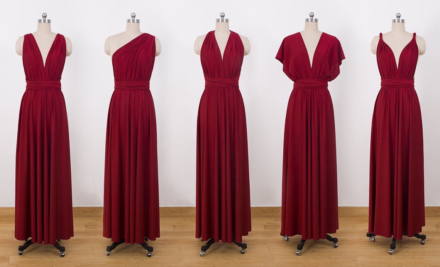 Burgundy maxi infinity dress convertible bridesmaid dress zoom ombrellifo Images