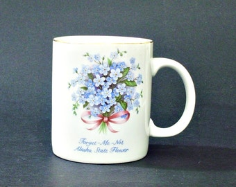 Alaska Mug Forget Me Not Flowers