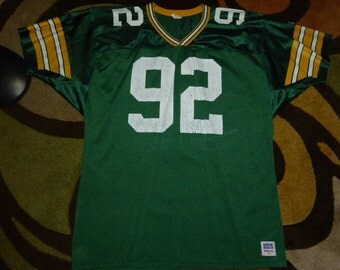 Vtg Reggie White Green Bay Packers NFL Wilson Pro Cut Jersey Sz Men's XL