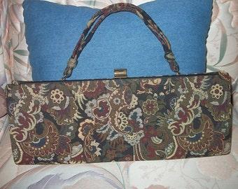 Long Floral Tapestry Handbag