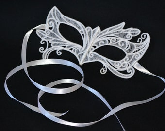 Mardi Gras Embroidered Lace Mask