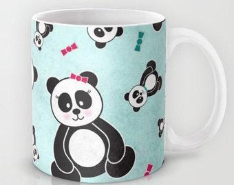 Panda Bears, Ceramic Coffee Mug, Cute Pandas