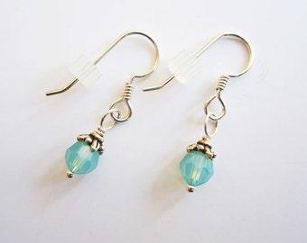Opal Swarovski 6mm Crystal Earrings