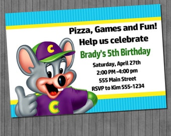 Chuck E. Cheese Party Invitations
