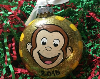 George Ornament - Christmas Ornament - Kid's Ornament - Personalized Ornament - Monkey Ornament