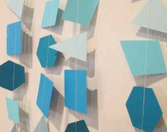 Geometric shape garland, Party decorations