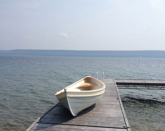 Beach Pea 13' Wooden Rowboat