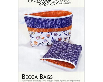 Becca Bags Pattern by Lazy Girl Designs.  Zipper Cosmetic bag