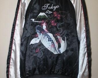 Sukajan BLD Supremacy of Japan Tokyo Koi Fish Embroidery Souvenir Jacket Bomber