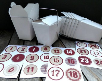 Asiaboxen food boxes 1-24 Red advent calendar