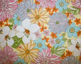 "Flowers Print #14 100% Cotton Quilting Fabric Robert Kaufman Designer Print 45"" Wide By The Half Yard"
