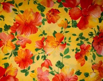 "Flowers Print #29 100% Cotton Quilting Fabric Robert Kaufman Designer Print 45"" Wide By The Half Yard"