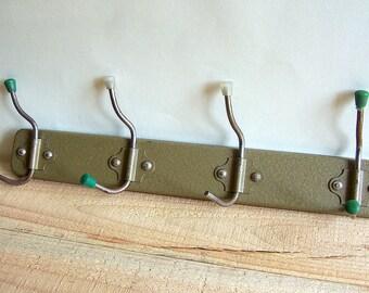 Vintage Coat Rack. Metal Hanger with 4 hooks. Soviet Era. Industrial style coat hanger.
