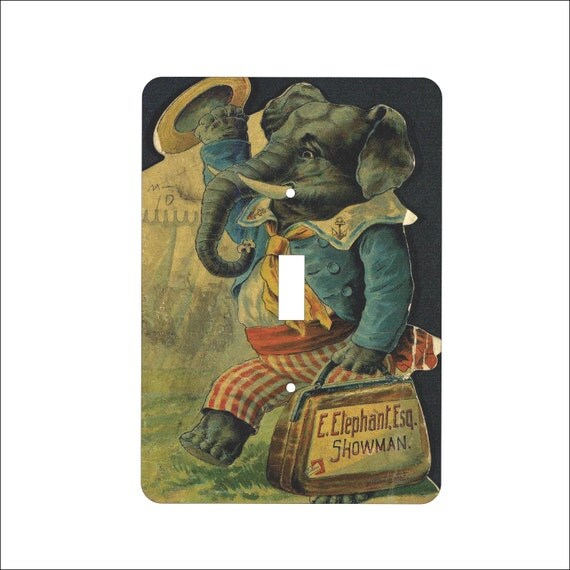 Metal Elephant Light Switch Cover Elephant By Dynastyprints