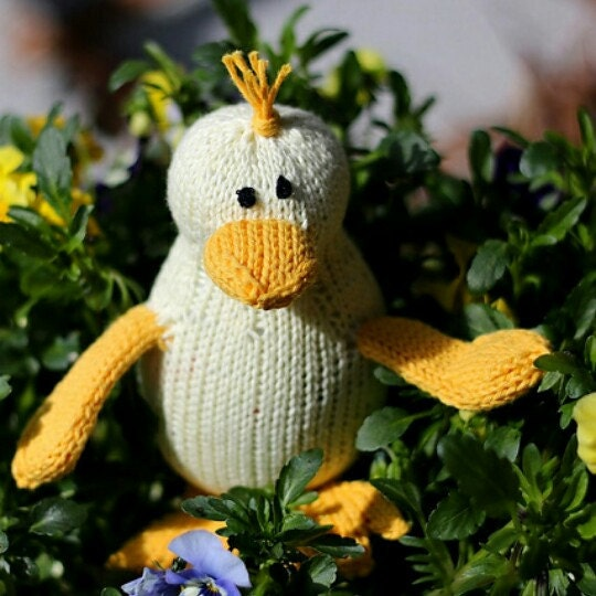 Duck knitting pattern easy toy duck knitting pattern PDF