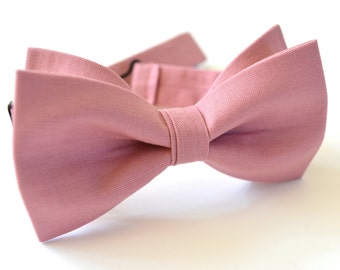 dusty rose bow tie for boys, bow tie for boys, wedding bow ties,mens bow ties