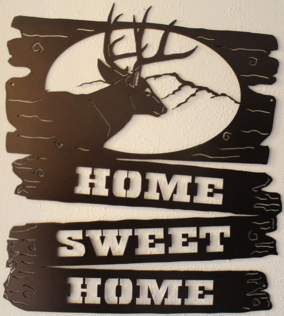 Home sweet home welcome sign metal wall art home decor Home sweet home wall decor