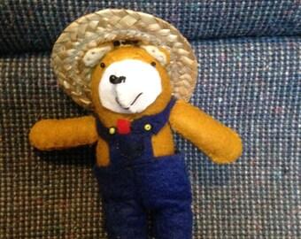 """5"""" Felt Teddy Bear"""