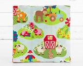 Apple Hill Farm Kids Bright Pig Cow Horse Patty Cakes 40 Fabric 10 inch Squares