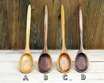 Wooden Spoon, Cherry or Walnut Wood